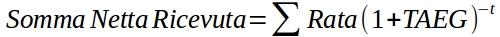 formula del taeg